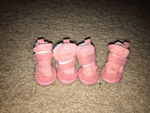 Puggs pink Xs/small dog booties for Sale in Lynnwood, WA