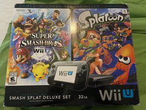 Nintendo Wii U special edition Smash Bro's & Splatoon in box for Sale in Houston, TX