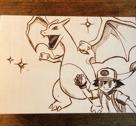 Pokémon Wood-burned Art for Sale in Selma,  CA