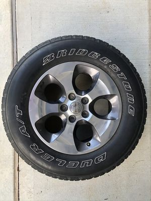 "2016 Jeep Wrangler Sahara 18"" Wheels and tires for Sale in Spring, TX"