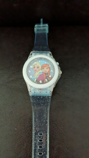 Frozen Elsa and Anna Analog Watch Transparent Glitter Blue Band for Sale in Virginia Beach, VA