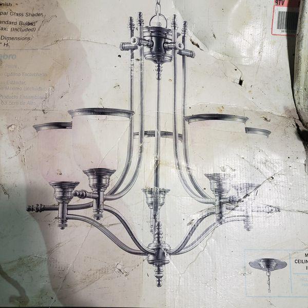 Hampton Bay 5-Light Chandelier Pewter