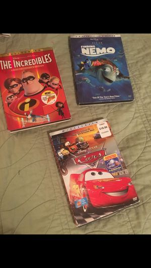 3 Pixar DVDs all for $10 for Sale in Patterson, CA