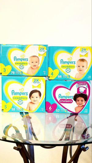 Pampers Swaddlers Super Packs Size N - 6 for Sale in Alafaya, FL