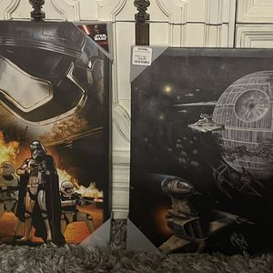 Star Wars Wall Art Brand New 2pc for Sale in Boca Raton, FL