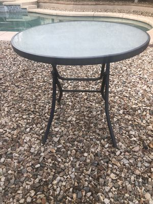 32 inch glass top table folding table for Sale in Gilbert, AZ