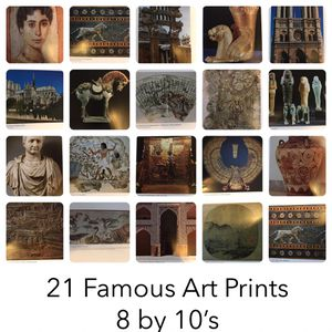 21 Famous Art Prints 8 by 10's for Sale in Elma, WA
