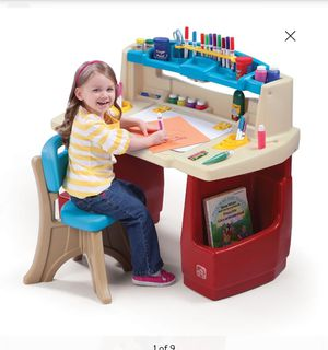 Step2 Deluxe Art Master Desk Kids Art Table with Storage and Chair for Sale in Yorba Linda, CA