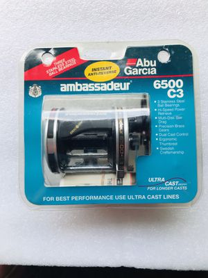 Abu Garcia 6500C3 Fishing Reel ( Made in Sweden) for Sale in Glendale Heights, IL
