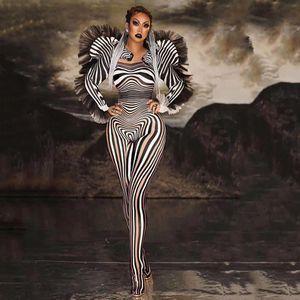Electric Style Zebra Bodysuit Jumpsuit for Sale in Silver Spring, MD