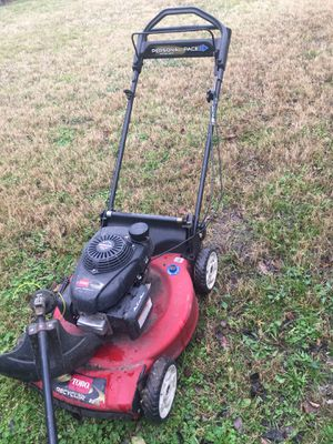Transmission lawn mower and included weed eater for Sale in Dallas, TX