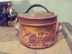 Midcentury Modern Stoneware Casserole Beanpot Storage MCM for Sale in Phoenix, AZ