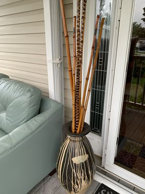 Vase with bamboo sticks for Sale in Parkland, FL