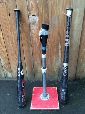 Baseball Bats & Tee for Sale in Edmonds, WA