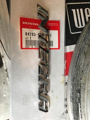 02-06 Acura Rsx Dc5 Integra Badge-Oem $30.00 Firm for Sale in Bell, CA