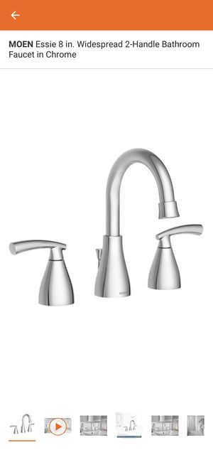 New MOEN Essie 8 in. Widespread 2-Handle Bathroom Faucet in Spot Resist Nickel and Chrome left $75 for Sale in Rialto, CA