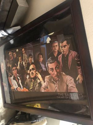 The bad guys by Justin Reed. Framed poster for Sale in Winchester, CA