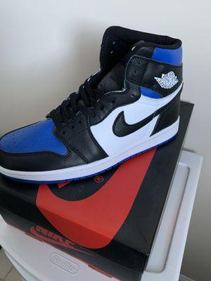 *NEW** Jordan 1 Retro High (size10) Royal Toe - BLACK/WHITE-GAME ROYAL for Sale in Coconut Creek, FL