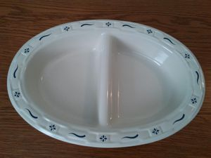 "Longaberger 13"" Oval Divided Vegetable Bowl for Sale in West Springfield, VA"