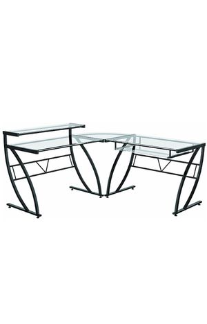 Glass Desk L-shaped. Great condition for Sale in Royal Palm Beach, FL