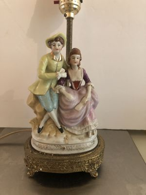Figural antique porcelain lamp for Sale in Moon, PA