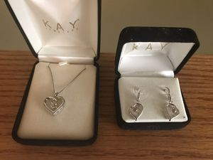 Kay Jewelry heart necklace and earrings set for Sale in Bowie, MD