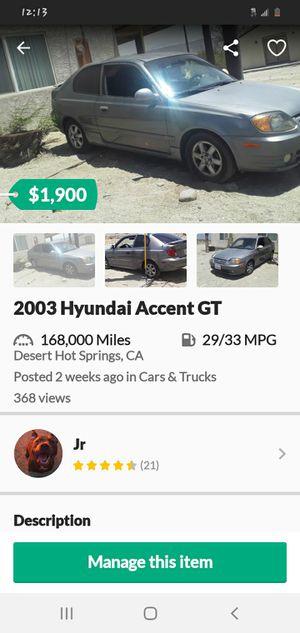 2003 Hyundai Accent for Sale in Desert Hot Springs, CA