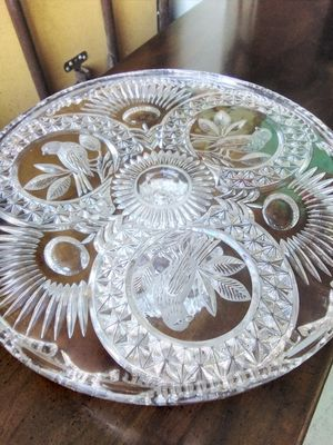 Vintage crystal dish for Sale in Wildomar, CA