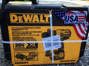 Dewalt 20v xr max hammer drill 2- 5 ah battery $200 for Sale in China Grove, NC