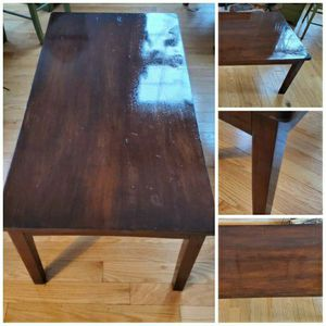 Coffee Table Real Wood Heavy Well Made for Sale in Hillsborough, NC