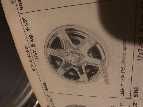 "Jeep Liberty wheel 9045 chrome 17"""