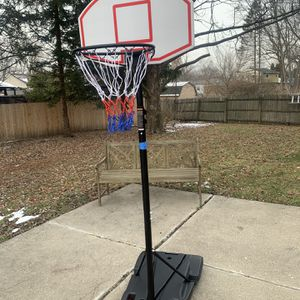 Kids Portable Height-Adjustable Sports Basketball Hoop Backboard System Stand w/ Wheels - Black for Sale in Indianapolis, IN