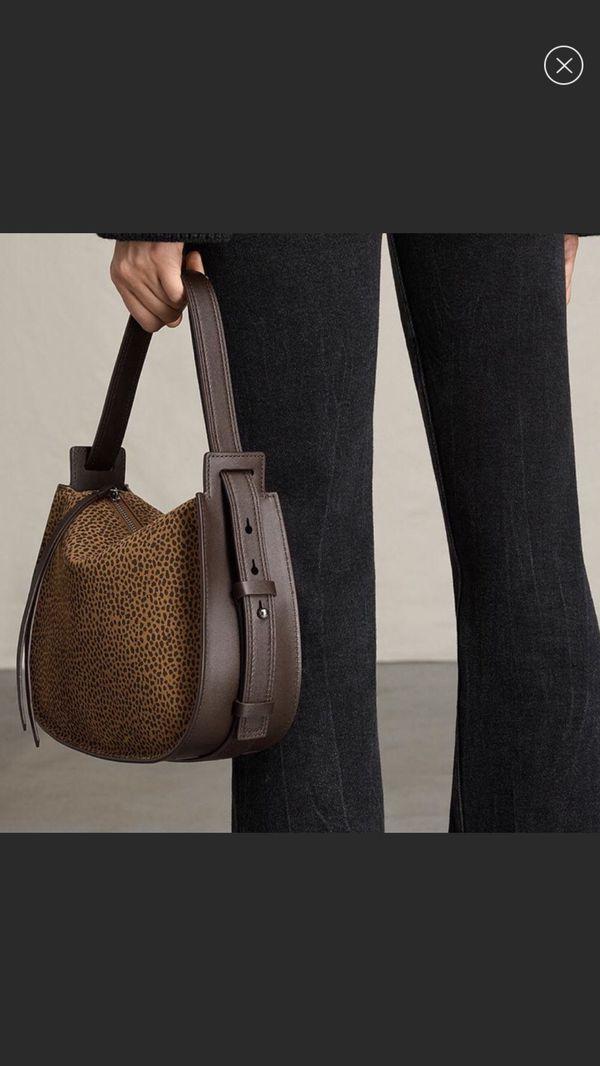 All saints mini echo calfskin Leather Hobo Bag