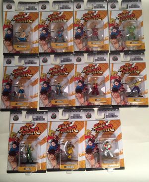 11 Nano Metalfigs Street Fighter Die-Cast Metal Figures Collectibles Toys for Sale in Grand Prairie, TX