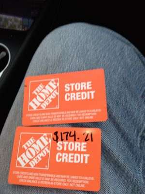 Home depot store credit cards for Sale in San Jose, CA