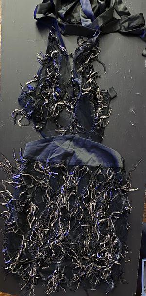 Black/Silver Fringe Dress XS for Sale in Upper Darby, PA