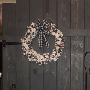 Two Cotton Wreaths for Sale in Bakersfield, CA