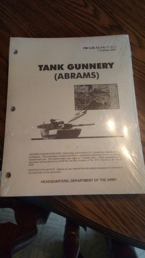 Tank gunnery book for Sale in Pineville, LA