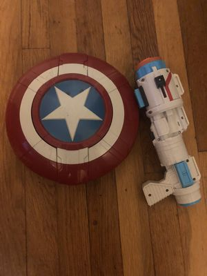 Marvel Captain America Shield & Gun for Sale in Hazel Park, MI