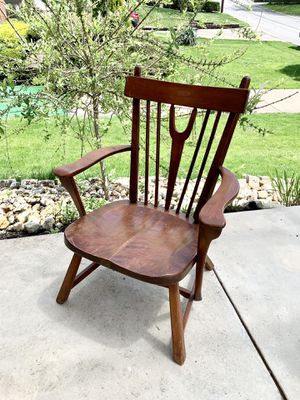 Pick up today well made antique solid maple wood chair for Sale in Monroeville, PA