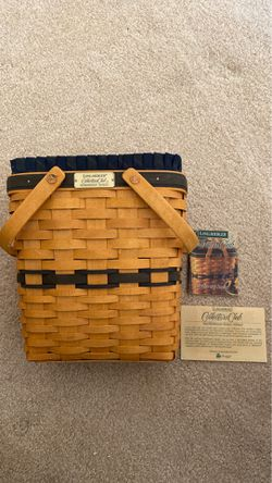 Longaberger Collector's Club Membership Basket With Liner & Plastic Insert 1997 for Sale in Loma Linda,  CA