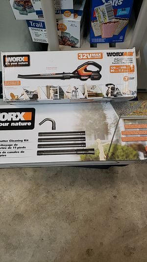 Worx blower and gutter cleaning kit for Sale in North Plains, OR