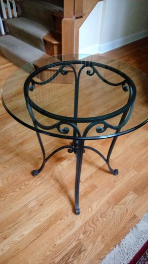 Beautiful Heavy Wrought Iron Table for Sale in Villa Park, IL