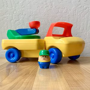 "Vintage 1985 Little Tikes Toddle Tots Cherry Picker Bucket Lift Truck 12"" Toy Vehicle With Chunky People Driver Figure for Sale in Elizabethtown, PA"