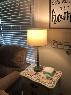 Farmhouse beautiful lamps, gray with white shades both for $30 for Sale in San Bernardino, CA