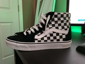 Checkered Vans size 9.5 (only worn once) for Sale in Fountain Inn, SC