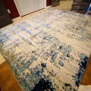 Grey Blue Area Rug Brand New 8x10 / Abstract Area Rug for Sale in Glendale, AZ
