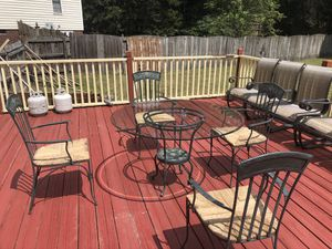 Beautiful design iron Patio table and chairs for Sale in Columbia, SC