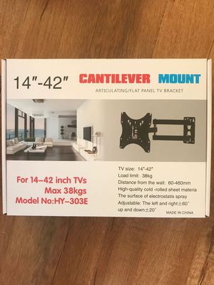 """New Still In The Box 14""""-42""""TV WALL MOUNT BRACKETS (holds up to 84Ib)pick up Baldwin Park or downtown store for Sale in Baldwin Park, CA"""