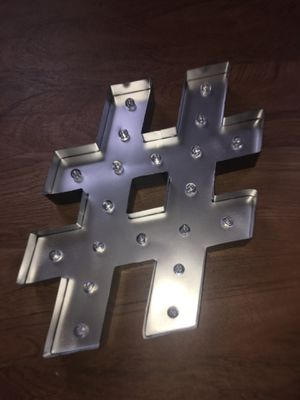 Big hashtag room decor led light for Sale in Bakersfield, CA